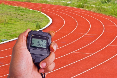 stopwatch in athletics field photo
