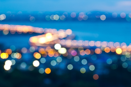 the colorful of a bokeh photo