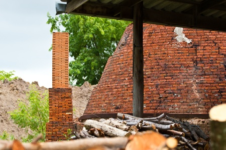 brick kiln: outdoor view brick kiln,chonburi , thailand Stock Photo
