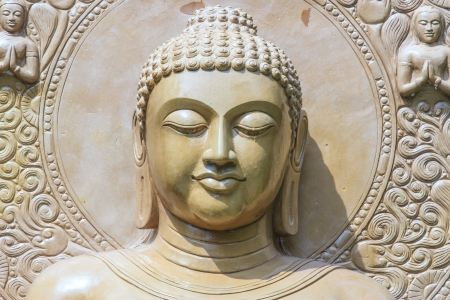 Buddha close up portrait at thailand photo