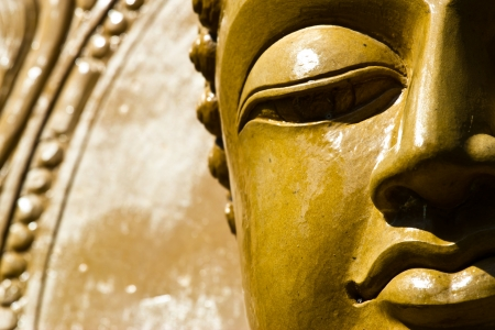 Buddha close up portrait at thailand Stock Photo