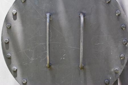 flange: rusty cast iron pipe flange