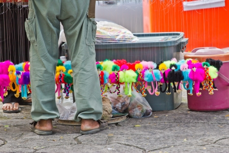 Stall sells a doll animal at thailand photo