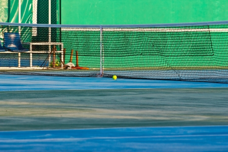 tennis court at chonburi thailand photo