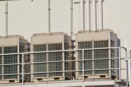 Row of air compressor photo