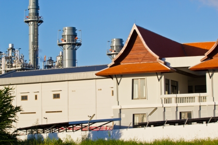 Natural Gas Combined Cycle Power Plant at chonburi thailand photo