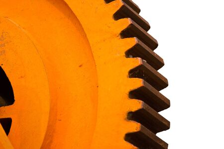 sprockets: machine gearwheel Stock Photo