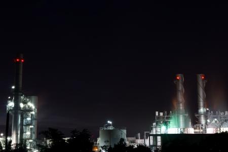 bridger: amata nakhon electric power on night at chonburi thailand