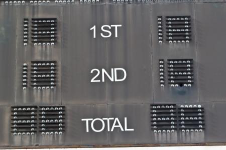 score board: Score board show your the result game Stock Photo