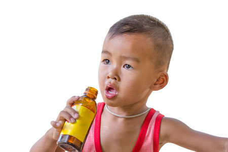 Boy with bottle Stock Photo - 22729278