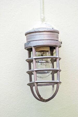 wall lamp on brick wall background Stock Photo - 22736965