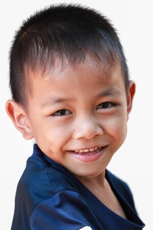 Boy with a cheerful expression. photo