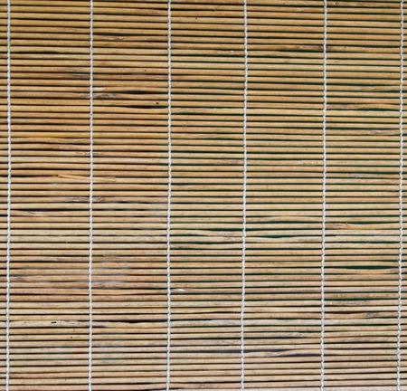 bamboo curtain on the windows