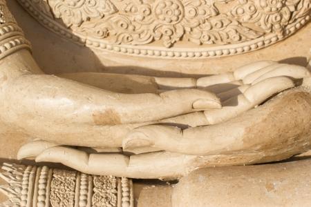cambodia sculpture: buddha hand makes of wax