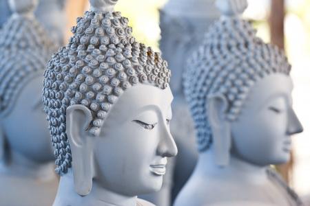 buddha face makes of wax photo
