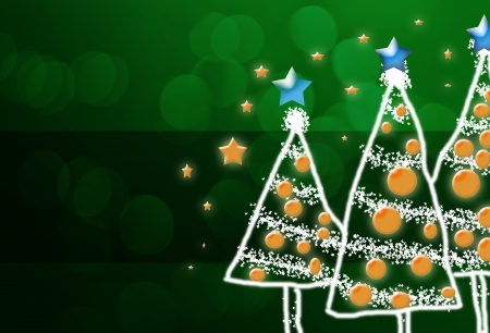 Shinny Christmas Tree, abstract background Stock Photo - 23935531