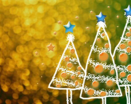 Shinny Christmas Tree, abstract background photo