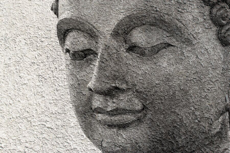 buddha face makes of wax photo
