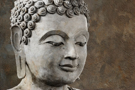 buddha face makes of wax Stock Photo - 24332655
