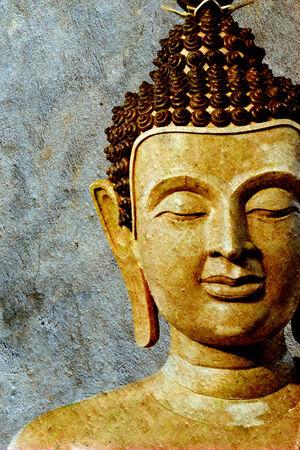 buddha face: Ancient Buddha face, Ayutthaya, Thailand