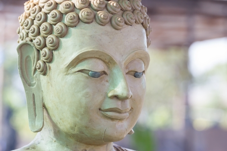 cambodia sculpture: buddha face makes of wax