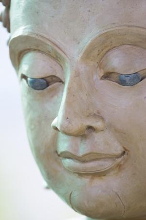 cambodia sculpture: buddha face makes of wax