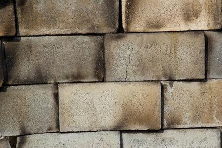 woodburning: Fireplace in  brick wall  Stock Photo