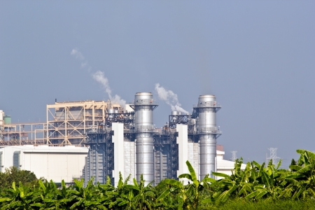 Natural Gas Combined Cycle Power Plant Stock Photo