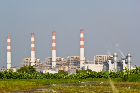 Natural Gas Combined Cycle Power Plant Фото со стока