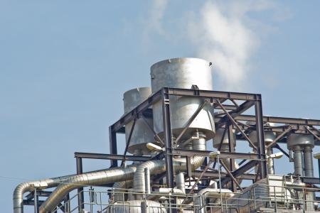 Gas Natural Planta de Ciclo Combinado Foto de archivo