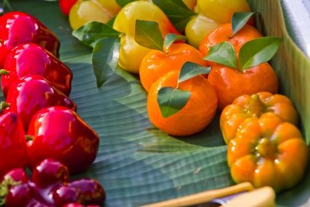 thai style: Thai style marzipan fruits