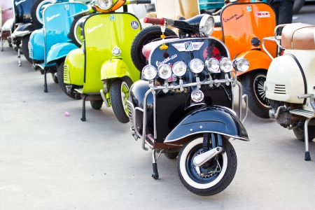 Modern classic scooter at thailand