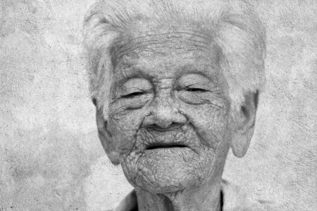 old woman happy up to 97 year photo