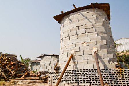 brick kiln: brick kiln. for use burn monk mold