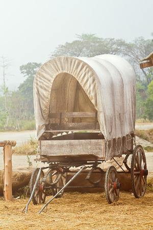 Wild West cart Stock Photo