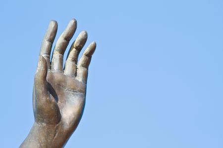 angel de la guarda: mano del �ngel de la guarda Foto de archivo