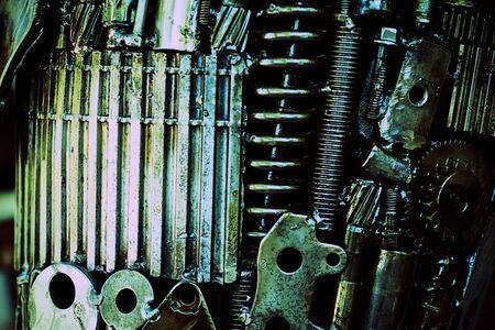 interlink: Closeup of metal gears