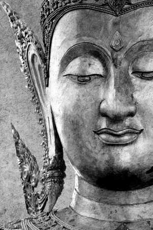 Statue of Buddha space for your text photo