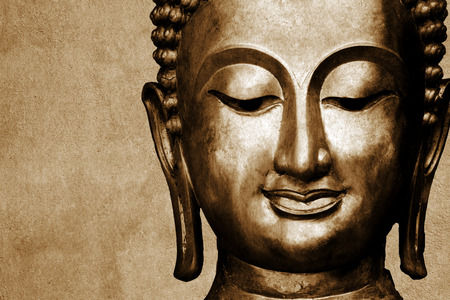 Statue von Buddha Platz für Ihren Text Standard-Bild - 28633436