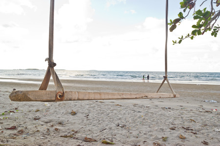 swing on the beach at Similan island, Thailand. photo