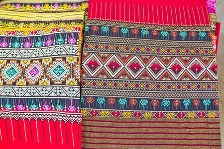 far eastern: thai silk background Stock Photo