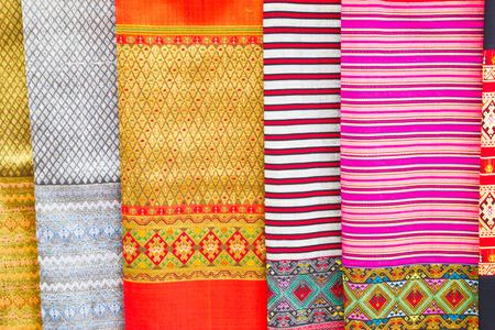 thai silk background photo