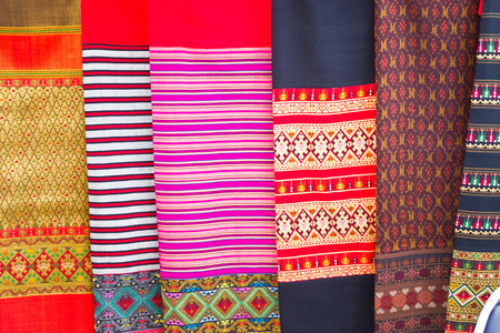 thai silk: thai silk background Stock Photo