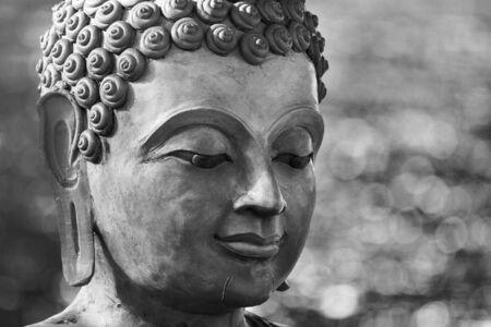 buddha face: buddha face by wax