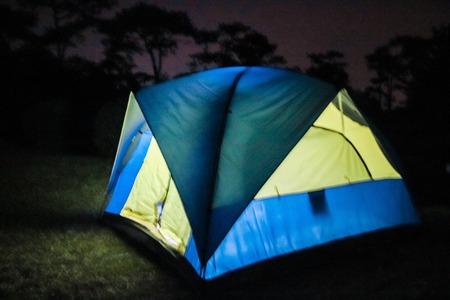 roughing: Camping tent at Night