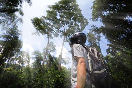 Man in the jungle photo
