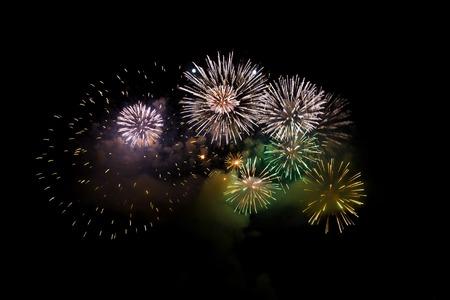fireworks at thailand photo