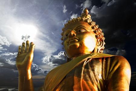 idolatry: Thai Golden Buddha Statue. Buddha Statue in Thailand