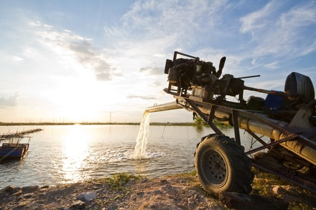 appropriate: water pump supply for agricultural universal use in fish and shrimp farm in country Thailand using modified middle size automobile diesel machine as pump driving engine.