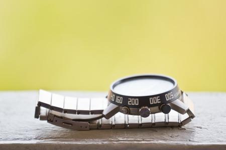 luxury watch: Luxury watch, chronograph closeup